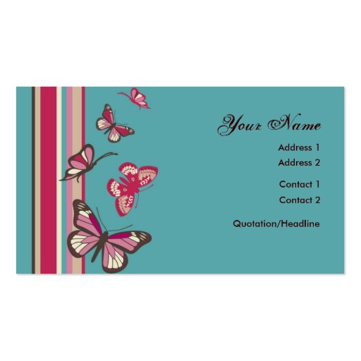 Butterfly Profile Card Business Card Templates