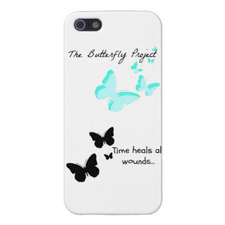 Butterfly Project/Time heals all Cases For iPhone 5