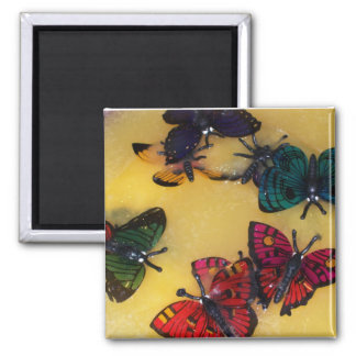 Butterfly Punch 2 Inch Square Magnet
