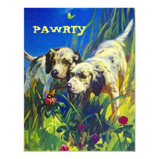BUTTERFLY PUPS DOG PAWRTY PARTY INVITE INVITATION