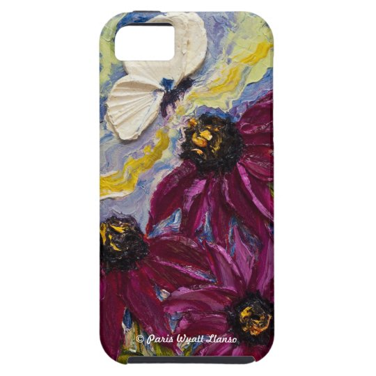 Butterfly & Purple Cone Flowers iPhone 5 Case