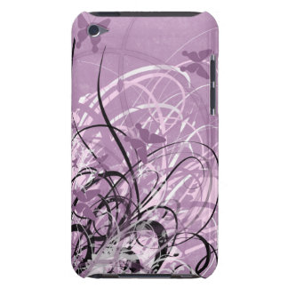 Butterfly Purple Grunge Swirl Touch Cas iPod Touch Cover