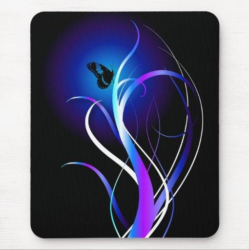 Butterfly purple mousepads