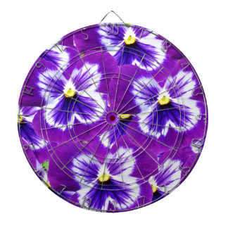 Butterfly_Purple_Pansies,_ Dartboard With Darts