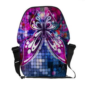 Butterfly Purple Vector Abstract Art Messenger Bag