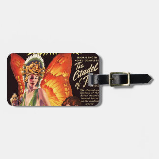 Butterfly Queen and her Dogs Luggage Tag