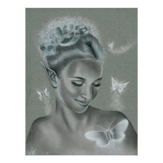 Butterfly Queen Poster