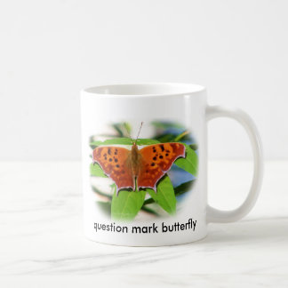 butterfly_question_mark_oval classic white coffee mug