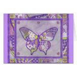 Butterfly Quilt Folk Art Card
