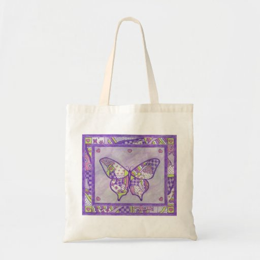 Butterfly Quilt Tote Bag