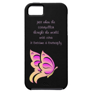 Butterfly Quote iphone 5 Case