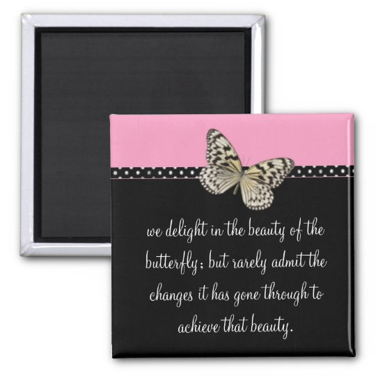 butterfly; quote magnet