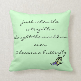Butterfly Quote Pillow