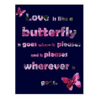 Butterfly Quote Postcard