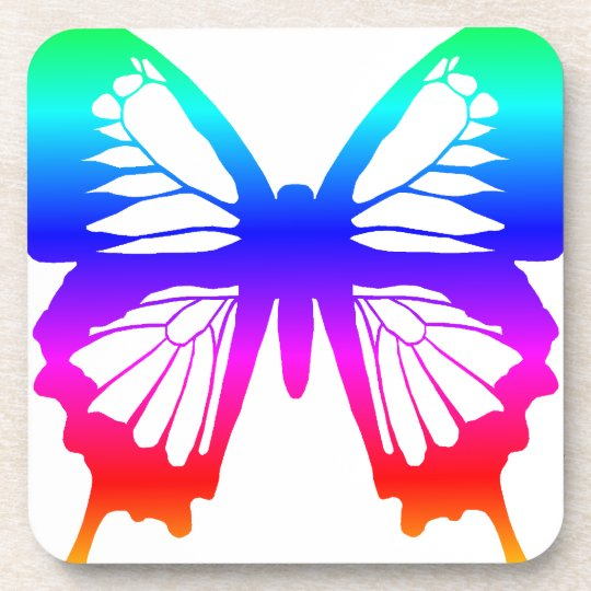 Butterfly - Rainbow Beverage Coaster