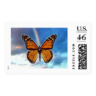 Butterfly Rainbow by Gregory Gallo Postage Stamp