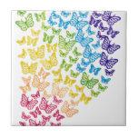Butterfly Rainbow Ceramic Tiles