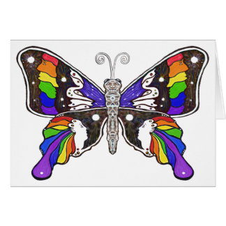 Butterfly Rainbow Greeting Card