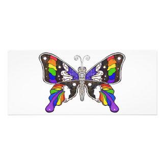 "Butterfly Rainbow invitation - 4"" x 925"