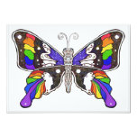 "Butterfly Rainbow - Invitations - 5""x7"""