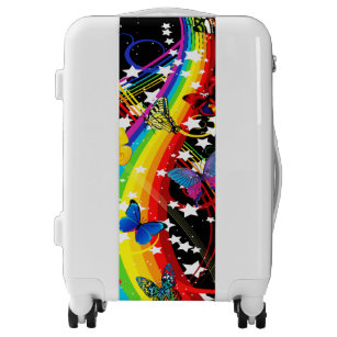 Butterfly Rainbow Luggage
