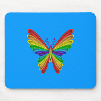 butterfly rainbow mouse pad