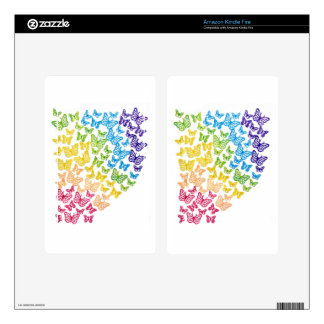 Butterfly Rainbow Decal For Kindle Fire