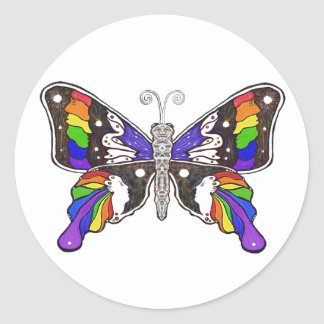Butterfly Rainbow sticker