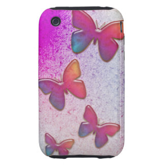 Butterfly Rainbow Tough iPhone 3 Cover