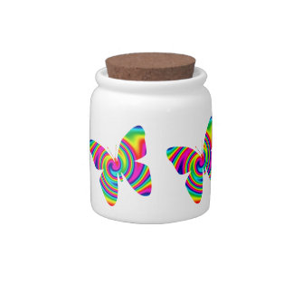 Butterfly Rainbow Twirl Candy Dishes