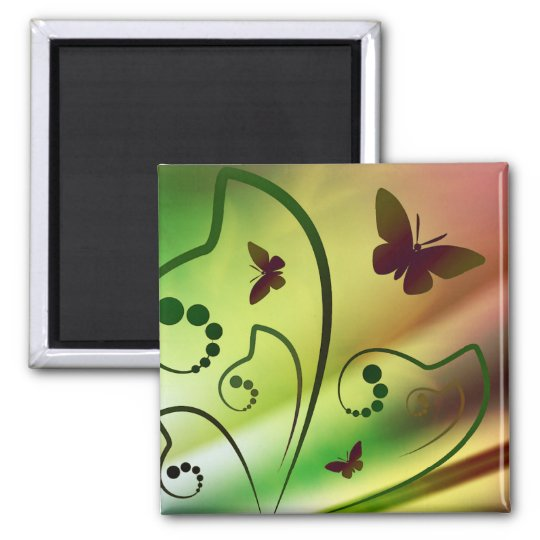 Butterfly Rainbows Magnet