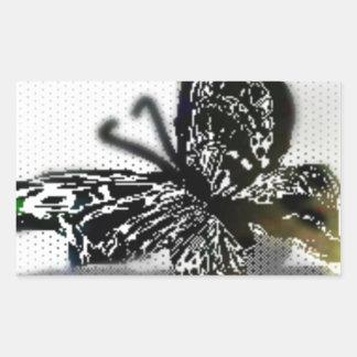 Butterfly Rectangular Sticker