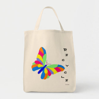 Butterfly Recycle Grocery Bag Grocery Tote Bag