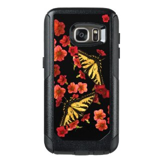 Butterfly Red Flower OtterBox Galaxy S7 Case