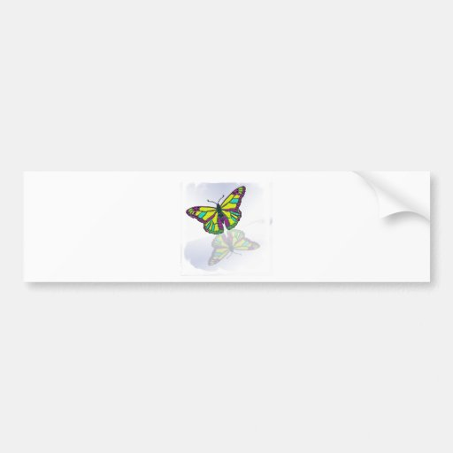 Butterfly Reflection Mirror Mirror on the /Wall Bumper Stickers