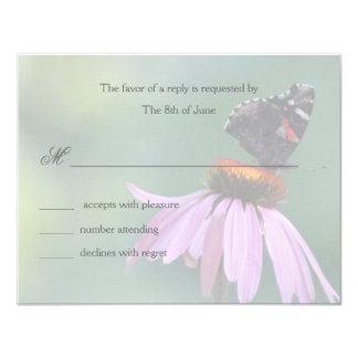 Butterfly respond cards /gray invite