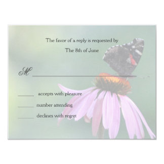 Butterfly respond cards custom announcements