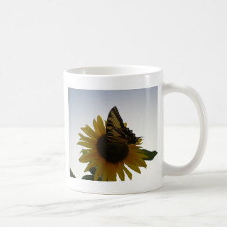 Butterfly Resting at Dusk Coffee Mug