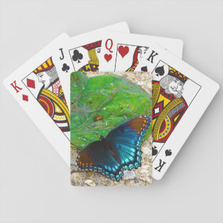 Butterfly Rests On Leaf Playing Cards