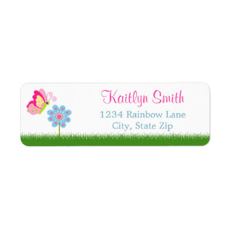 Butterfly Return Address Label