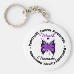 Butterfly Ribbon - Pancreatic Cancer Month Key Chain
