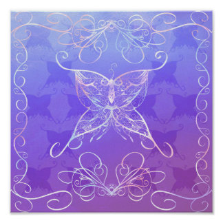 Butterfly Ribbon Poster