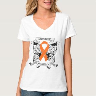 Butterfly Ribbon Skin Cancer Survivor Shirt