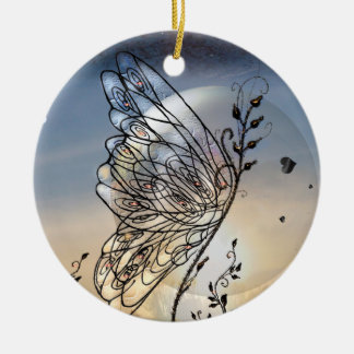 Butterfly Rising! Ceramic Ornament