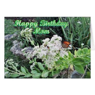 Butterfly & Rock Garden for Mom Card