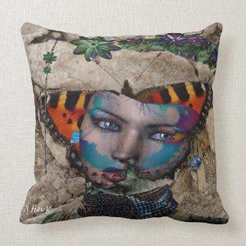 Butterfly Rock Throw Pillows
