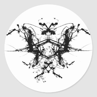 Butterfly Rorshax Classic Round Sticker