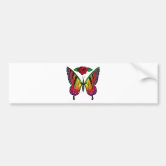 butterfly rose bumper stickers