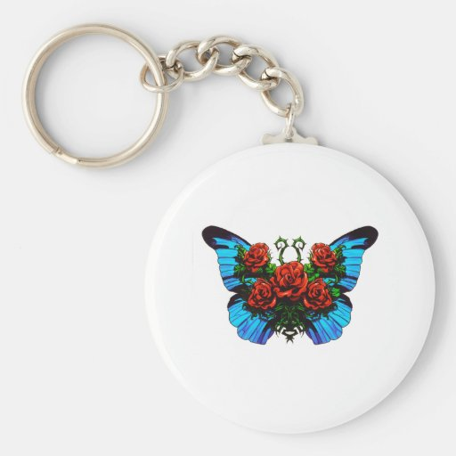 Butterfly Rose Keychains