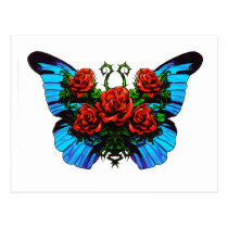 Butterfly Rose Postcard
